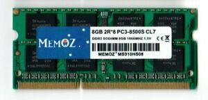 8GB DDR3 1066 RAM Notebook PC3 8500 Laptop Memory So-Dimm Memoz 5 Years Warranty