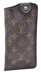 Authentic Louis Vuitton Monogram Etui Lunettes MM Glasses Case M66544 LV C3011