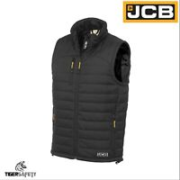 JCB 1945 Mens Black Lightweight 3M Thinsulate Padded Puffer Gilet Bodywarmer