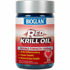 BIOGLAN RED KRILL OIL DOUBLE STRENGTH 1000MG 30 SOFT CAPSULES ANTI-INFLAMMATORY