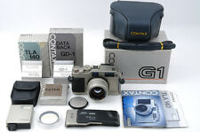 Contax G1 +Planar 45mm f/2 +GD-1 +TLA 140 +Leather Case +3 BOX -NearMint(Co-111)