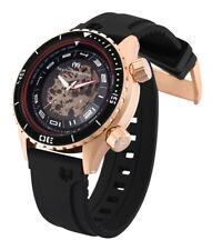 Mens TechnoMarine TM 218006 Automatic Black Rubber Strap 47mm Watch