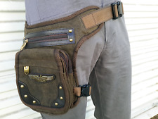 ❤️ MYSTIC BAG WAIST LEG HIP HOLSTER PURSE POUCH BELT BAG BROWN STEAMPUNK ❤️