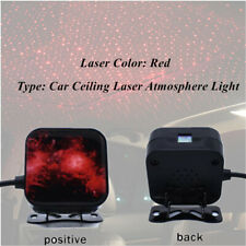 IPX4 Car Rotate Red Night Roof Light Star Projector Atmosphere lamp USB Plug
