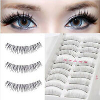 Natural Long Black Handmade 10 Pairs Thick Makeup Fake Eyelashes False Lashes
