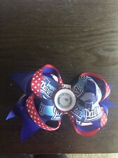 Girl's Hair Boutique Bow Nfl New England Patriots