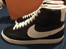 Nike Wmns Blazer Mid Leather Vintage Black Sail Gold Suede Shoe Women's Size 8