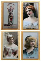 1880s Sweet Caporal Cigarette Trade Cards Kinney Brothers Tobacco (LOT of 4) HTF