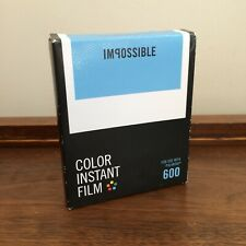 Impossible 600 Color Instant Film for Polaroid 600 Cameras Expired