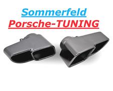 PORSCHE 997 Turbo mk1 doppio terminali di scarico cromo nero black Double Tail Pipe