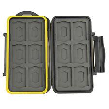Caisson Boîte Etanche de Protection pour Carte Mémoire 12 SD 12 Micro SD