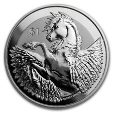 1 oz silver pegasus frosted reverse 2018 BVI. Instock! BU .999 pure silver!