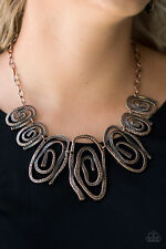 Paparazzi Jewelry Necklace warped copper frames with earrings nwt