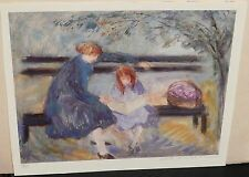 "BARBARA A WOOD ""PARK BENCH "" LIMITED EDITION SIGNED LITHOGRAPH"