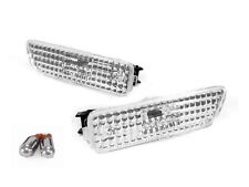 VW GOLF GTi JETTA MK4 DEPO EURO CLEAR SIDE MARKERS BUMPER LIGHTS +CHROME BULBS