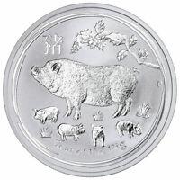 2019 AUSTRALIA SILVER 1 OZ. LUNAR YEAR of PIG UNC COIN