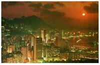 Beautiful Dusk Scene At Victoria Hong Kong Postcard PC1039