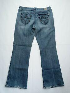 BandolinoBlu Arianna Womens Straight Leg Jeans Size 14 Blue