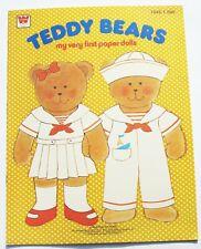 1978 My Very First Paper Dolls Teddy Bears #1943 Uncut Whitman Book Unused 1970s