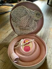 WORKS Vtg Universal Handy Hannah Hair nail Dryer Soft Bonnet Pink case mcm
