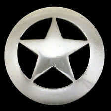 "Western Equestrian Cowboy Tack Antique Silver Star Concho's 3/4"" Set of 6"