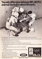 1967 All-Pro Football Game photo Ideal Toy Co. print ad