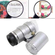 45X Jewelers Loupe Mini Magnifier Microscope Magnifying Pocket LED Light