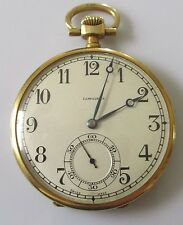 Art Deco slimline Longines 18ct yellow gold manual wind pocket watch.