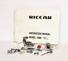 Nos Riccar Sewing Machine Model 808E Presser Foot Set & Manual w/ Accessories