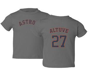 Houston Astros #27 Jose ALTUVE Jersey Style Kids Toddler T-Shirt
