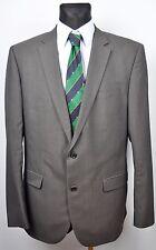 HUGO BOSS Grey Hudson/Bay Blazer UK 44L Wool Pinstriped  EUR 54L 106 Sakko Jacke