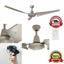 Industrial Ceiling Fan 3-Blades High-Power 60 Inch Brushed Steel Wall Control