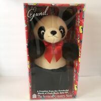 RARE Gund Panda Bear Vintage Stuffed Plush The Vermont Country Store Teddy