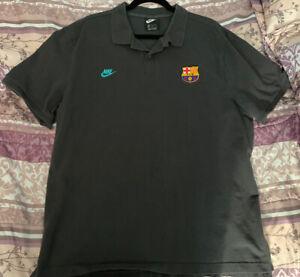 FC Barcelona Lot: Barca Yellow Polo & Charcoal Polo Nike XXL 2 Hats 7 1/2 NWT.