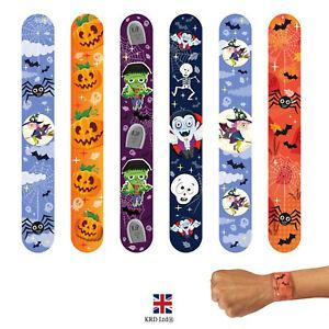 Halloween Snap Bracelets Kids Wrist Slap bands Party Bag Filler Toy Gift H706 UK