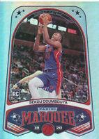 Sekou Doumbouya 2019-20 Panini Chronicles Marquee #249 Pistons RC Rookie