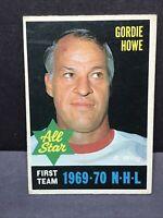 1970-71 OPC O Pee Chee #238 GORDIE HOWE AS VG - EX Detroit Red Wings HOF