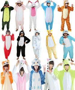 Adult Winter One Piece Pajama Kigurumi Christmas Party Bodysuit Cosplay Costume