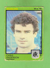 1982  CANTERBURY BULLDOGS  SCANLENS RUGBY LEAGUE CARD  #80  CHRIS ANDERSON
