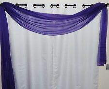 """1PC VALANCE SCARF SWAG VOILE SHEER ELEGANT CURTAIN WINDOW DRESSING 35"""" X 216"""""""