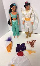 Disney's Aladdin and Jasmine Mattel 1992 Dolls