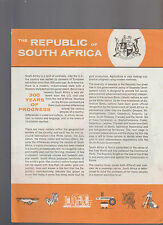 Republic of South Africa 300 Years of Progress Brochure 1973