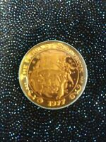 1977 Krewe of Hercules Rare Gold & Green Mardi Gras 1969 Doubloon Rare Colored