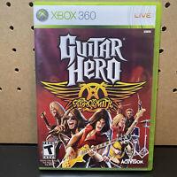 Guitar Hero: Aerosmith (Microsoft Xbox 360, 2008) Complete W/ Manual - Tested