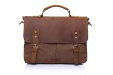 Genuine Leather Vintage Satchel Shoulder Messenger Laptop Bag Handbag Briefcase