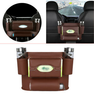 Car Seat Back Organizer Multi-function Interior Storage PU Bag Holder Collector