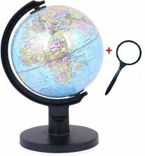 Small Globe with Plastic Arc and Base with Lens 5 Inch Diameter, Educational