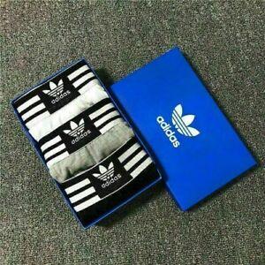 3Packs Adida Men's Cotton Comfort Trunk Boxer Underwear Flat Boxer Shorts Pants