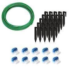 ECENCE 13040201 Kit d'Accessoires et de Réparation pour Robot-Tondeuse - Câble Périphérique 10m, 10 Connecteurs et 25 Crochet