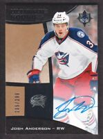 2015-16 Ultimate Collection Hockey 68 Josh Anderson RC Auto 205/299 Blue Jackets
